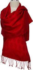 Pashmina Jacquard Schal Rot 70% Cashmere 30% Seide silk red scarf Stole Foulard