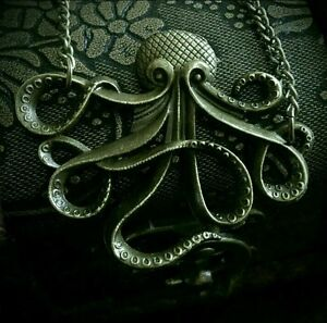 Steampunk Pirate Octopus Necklace Kraken Cthulhu Tentacles Gothic Pendant