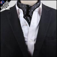 Men's Black with White Polka Dots Ascot Cravat