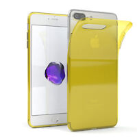 Ultra Slim Cover für Apple iPhone 8 / 7 Plus TPU Case Silikon Hülle Gelb