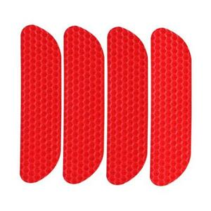 4pcs Open Car Door Stickers Warning Mark Reflective Strips Tapes (Red) UK