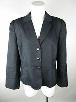 Tahari Arthur S Levine Womens Gray Pinstripe 3 Button Blazer Jacket Size 16P