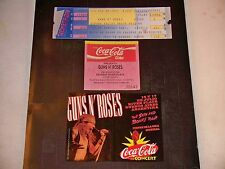 GUNS N ROSES 1991&1993 TICKET STUB**LAST SHOW WITH ORIGINAL MEMBERS**7/17/93**
