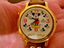 Vintage Lorus Mickey Mouse Disney Musical Watch-TWO Melodies-Dancing Second Hand