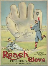 1910 Reach Cardboard Ad Piece With Ty Cobb High Quality 10x14 Archival Poster
