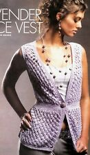 New listing Pretty Lavender Lace Vest/Crochet Pattern Instructions Only