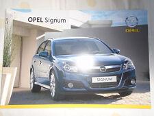 Opel Signum range brochure Jul 2007 Swiss market French text