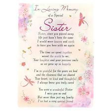 in Loving Memory Open Graveside Memorial Card - Special Sister