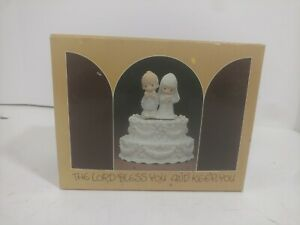 Enesco E-7180 Precious Moments Porcelain Music Box Cake topper Wedding March