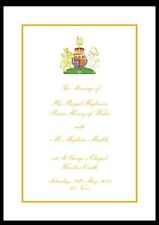 Royal Wedding Official Order of Service - Prince Harry & Meghan Markle. 22 pages