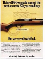 1977 Marlin 99C 22 Autoloader Rifle Caliber Vintage Print Ad