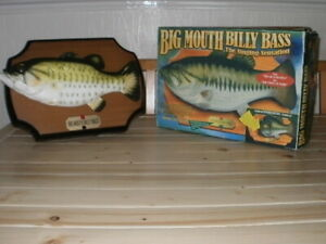 BIG MOUTH BILLY BASS - The Singing Sensation - Singing Fish EXCELLENT CONDITION