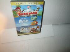 LOT OF 3 KIDS MOVIES rare dvd Set YOGI BEAR / RANGO / BARNYARD
