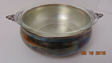 Vintage Pyrex Etched Casserole Oval Dish Bowl  Stand Carrier no lid