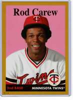 Rod Carew 2019 Topps Archives 5x7 Gold #66 /10 Twins