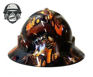 Custom hydrographic wide brim safety hard hat Machinery Mining BOGGER WIDE
