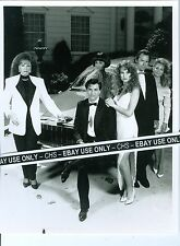"""LUCKY CHANCES"" ORIG. B&W 7x9 PHOTO JACKIE COLLINS LEANN HUNLEY MICHAEL NADER"
