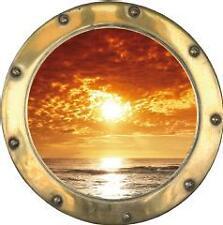 Sticker trompe l'oeil Couché de soleil 40x40cm
