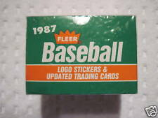 1987 FLEER BASEBALL CARDS *UPDATE SERIES* UNSEARCHED