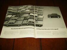 1971 VOLKSWAGEN VW BEETLE BUG   ***ORIGINAL 2 PAGE AD***