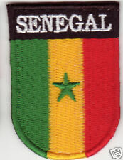 SENEGAL Country Flag Patch Shield Style