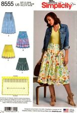 Simplicity Sewing Pattern 8555 Womens Pleated Skirt NEW Size 6-14