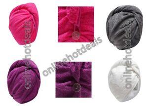 100% COTTON QUICK DRY MAGIC HAIR TURBAN TOWEL HAIR WRAP BATH TOWEL CAP HAT
