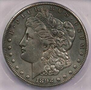 1892-CC 1892 Morgan Silver Dollar ICG AU50 details