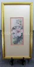 Hung Chu Lee Feeding Hummingbird & Flower Blossoms Framed Matted Signed Numbered