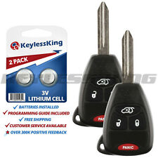 2 New Uncut Keyless Entry Remote Keyless Ignition Key Combo for M3N5WY72XX