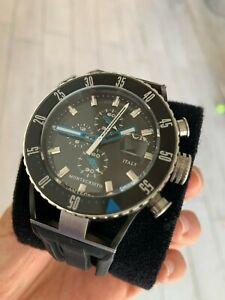 Locman Montecristo Diver Men's Watch Chronograph Titanium Steel and Rubber