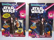 1993 Justoys Star Wars Bend 'Em Obi-Wan Kenobi w/ Trading Card, Moc