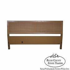 Sligh Cross Country Collection Mid Century Modern Cane Full Size Headboard