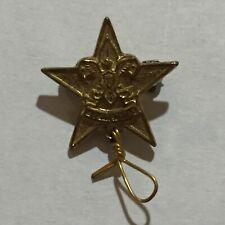 VTG Boy Scout BSA First Class Rank Parents Lapel Pin Gold Tone Spin Wheel Clasp