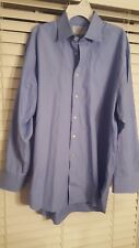Charles Tyrwhitt Mens Long Sleeve Button Down Dress Shirt / Blue  16 1/2 -34