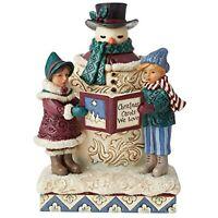 Enesco Jim Shore Heartwood Creek Victorian Snowman & Christmas Carolers Figurine