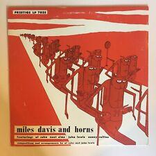 MILES DAVIS AND HORNS-OJC-053 REISSUE OF PRESTIGE LP 7025, MG, NM, D.MARTIN CVR