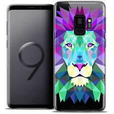"Coque Housse Etui Pour Samsung Galaxy S9 (5.8"") Polygon Animal Souple Fin Lion"