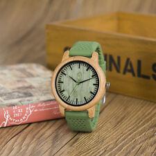 BOBO BIRD B06 Luxury Men's Bamboo Wood Watch Quartz Watches With Silicone Straps