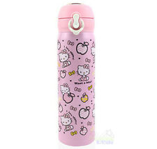 New Cute Hello Kitty Stainless Steel Vacuum Warm Travel Mug Tea Cup 450ml