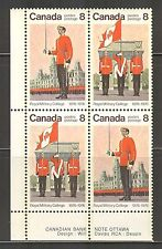 Canada #692-693 1976 8c Royal Military College Centenary Se-Tenant PB4 Unused NH