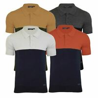 Mens Knitted Polo Brave Soul Discover Collared Short Sleeve Jumper T Shirt
