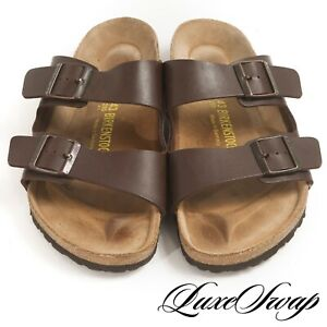 Birkenstock Made in Germany Brown Leather Arizona Double Strap Sandals Shoes 43