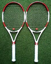 Pair of Wilson six-one 95 L Tennis Rackets in lovely condition.