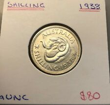 1938 Shilling aUNC Attractive coin with great reverse strike