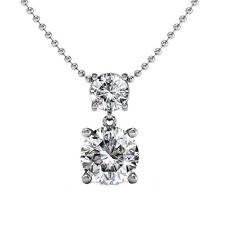 "Cate and Chloe Jasmine ""Immortal"" 18K White Gold Plated Swarovski Necklace"