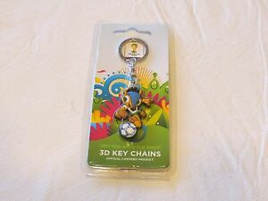 2014 FIFA World Cup Brazil 3D keychain key ring chain RARE emblem mascot soccer