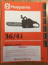 HUSQVARNA Chainsaw Operators Users Manual 36 / 41 -  English + 5 other languages