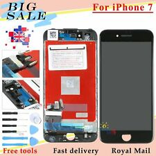 For Apple iPhone 7 LCD Display Touch Screen Digitizer Black Assembly + Frame UK