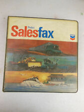 CHEVRON Product Sales Fax FOLDER 1970's - Advertisement Oil & Gas COLLECT